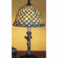"0-000409>15""h Fish Scale Accent Lamp"