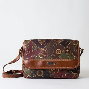 Patterned Leather Crossbody Bag