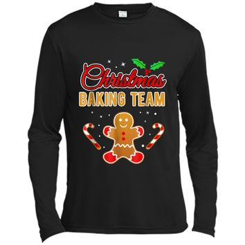 Christmas Baking Team Gingerbread Man  Long Sleeve Moisture Absorbing Shirt