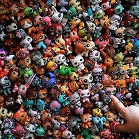 MINI Doll Lot 20 PCS Littlest Pet Shop Dog Loose Child Girl Toys LPS Gift