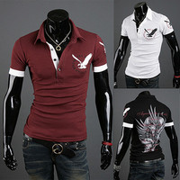 Eagle Men Fashion Slim Fit Polo Tee