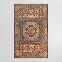 5ftx8ft Multicolor Diamond Print Cotton Alura Area Rug
