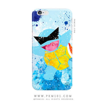 Pokemon SQUIRTLE Squad Inspired - Blue Bubble Beam - Paint Splatter iPhone 6 Case - iPhone 5c 5 5s 4 4s Case - iPod 5 Galaxy S4 S5 Case