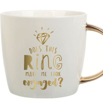 Does This Ring Make Me Look Engaged 14 oz. Mug
