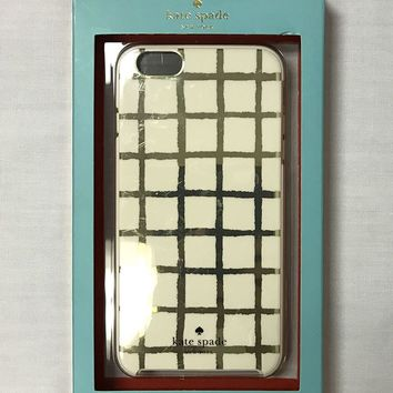 New in Box Kate Spade NY Hybrid B/W Paintery Grid Cases iPhone 6 Plus/6s Plus