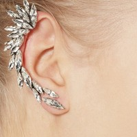 Crystal Wing Single Cuff Earring