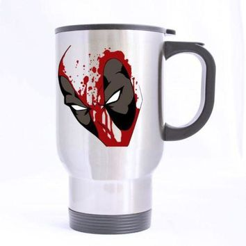 DCK9M2 Deadpool Custom Design Travel Mug