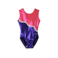 Obersee Kids Gymnastics Leotard in Purple Ribbon