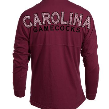 Official NCAA University of South Carolina Fighting Gamecocks USC COCKY SC Women's Spirit Wear Jersey T-Shirt