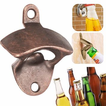 Wall Beer Opener Metal Retro Wall-Mounted Bottle Opener Wall Opener Kitchen Party Supplies