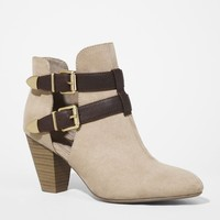ANKLE STRAP OPEN SIDE HEELED RUNWAY BOOTIE