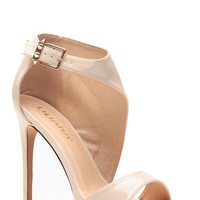 Liliana Nude Wrapped Patent Heels