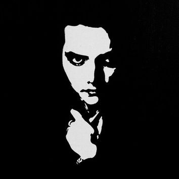 Acrylic Gerard Way of My Chemical Romance Black and White Portrait Painting