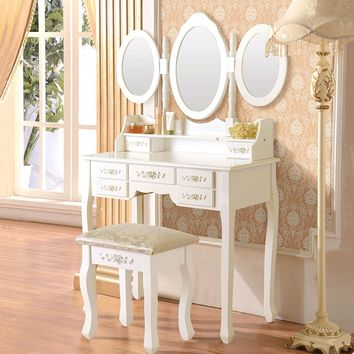 Vanity With Makeup Table White