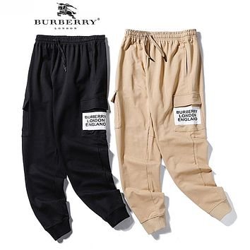BURBERRY Trending Boys Girls Casual Print Sport Pants Sweatpants
