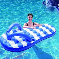 Blue Wave Marine Blue Flip Flop Inflatable Pool Float, 71""