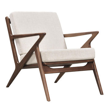 Jet Accent Chair Walnut Wood Finish CHOICE OF COLORS