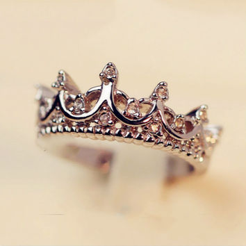 Nightmare - Queen Crown Ring - Silver