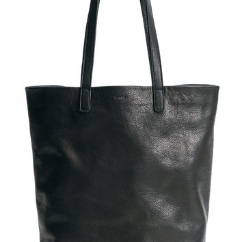 Basic Leather Tote: Black
