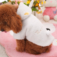 Pet Puppy Dog Clothes Cute Winter White Sheep Warm Hoodie Coat Apparel 5 Size