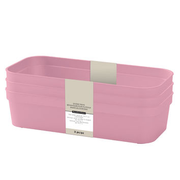 Pink Rectangular Divider Trays By Recollections™