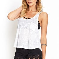 FOREVER 21 Geo Burnout Tank