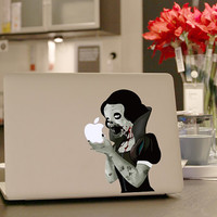 "Zombie Macbook decal, geekery sticker for laptop Macbook decal, Mac pro and Mac air decal sticker 13"", 15"", 17"""