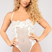 Your Only Vixen Teddy - White
