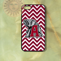Alabama Cimson Tide Chevron-iPhone 5, 5s, 5c, 4s, 4 case,Ipod touch 5, Samsung GS3, GS4 Rubber or Hard Plastic Case, Phone cover
