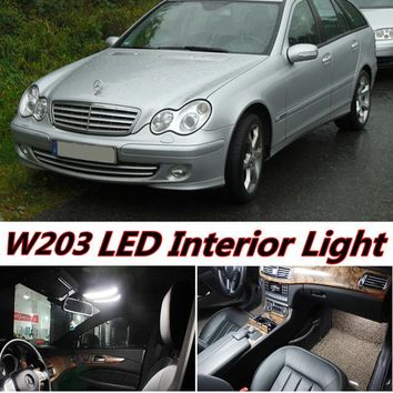 11pcs X free shipping Error Free LED Interior Light Kit Package for mercedes w203 accessories 2001-2007