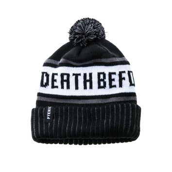 Death Before Decaf Beanie