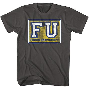 Animal House T-Shirt FU Faber University Charcoal Tee