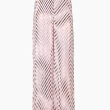 Aprilla Wide Leg Palazzo Pants - Ditsy Dot Red Print