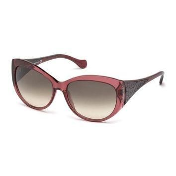 ONETOW printed leather temple sunglasses balenciaga 2