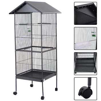 """61"""" Large Bird Cage Play Top Pet Supply Homey and functional, the bird cage, served not merely as a reliable protection but a cozy habitat, is where your beloved birds can be taken good care of"""