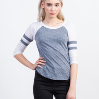 Varsity Striped Raglan Tee