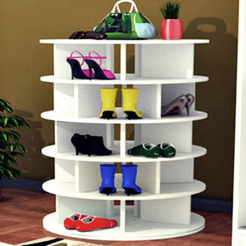 Lazy Susan Shoe Rack - 6 Tier - Stores 50+ Pairs of Shoes - Free Shipping!