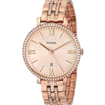 Fossil Womens ES3546 Rose Gold Dress Watch