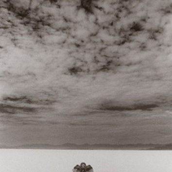 Salt Flat Land Speed Cloud Photo by David Perry Fine Art Print