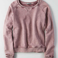 Don't Ask Why Distressed Basic Crew Neck, Burgundy1