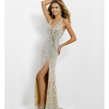 Blush 2014 Prom Dresses - Jasmine Sequin Jeweled Long Prom Dress
