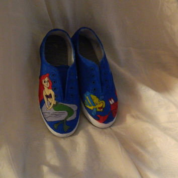 The Little Mermaid inspired shoes by CandBstudios on Etsy