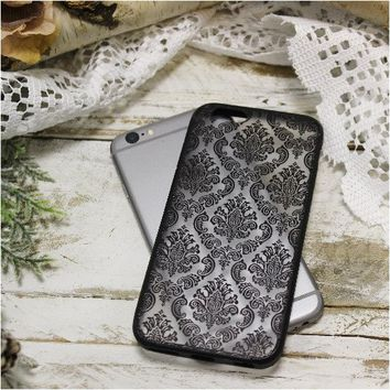 DAMASK lace cell phone cover for iphone 6 - black