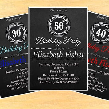 Joint birthday party invitations for from artpartyinvitation on birthday invitations for women elegant invitations adult invitations adult birthday birthday invitation filmwisefo