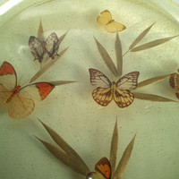 1950's, Smilite, Butterfly and Leaf, Serving Tray