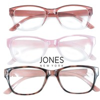 Jones New York Signature Pink Hombre Reading Glasses 3 Pack Readers