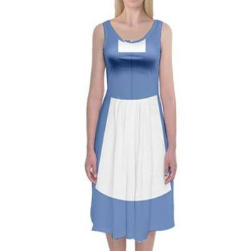 Town Belle Beauty and the Beast Inspired Tank Midi Dress