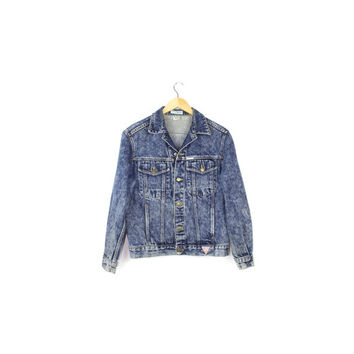 90s GUESS denim jacket / vintage georges marciano 1990s / unisex mens size small