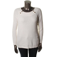 Jones New York Womens Knit Bateau Neck Pullover Sweater