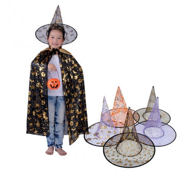 Fashion Wicked Witch Sorceress Hat Halloween Costume Fancy Accessory Adult Women